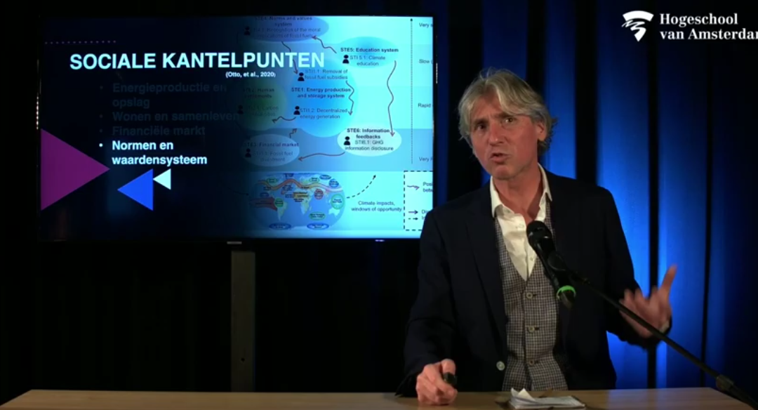 """Oratie Reint Jan Renes: """"Met Social Tipping Points uit de Klimaatspagaat"""""""